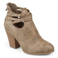 Journee Collection Women's 'Rhapsy' Stacked Heel Strappy Booties