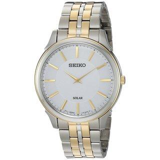 Seiko SUP864 Men's Thin Two Tone Stainless Steel Solar Watch