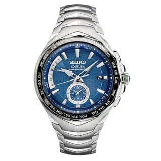 Seiko Men's Coutura Radio Synk Solar Duel Time Watch SSG019