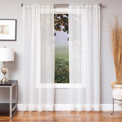 Softline Sabrina Medallion Sheer Curtain Panel