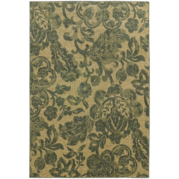 "Style Haven Tropical Gardens Beige/Blue Indoor/Outdoor Area Rug (7'10 x 10'10) - 7'10"" x 10'10"""