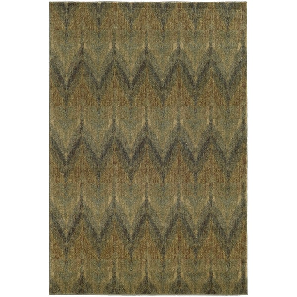 Style Haven Chevron Ikat Indoor/Outdoor Area Rug - 7'10 x 10'10