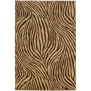 Style Haven Zebra Stripes Indoor/Outdoor Area Rug (7'10 x 10'10)