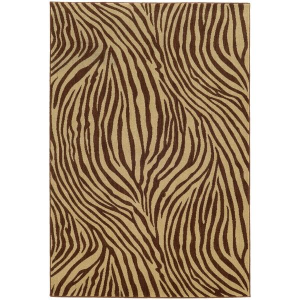 """Style Haven Zebra Stripes Indoor/Outdoor Area Rug (7'10 x 10'10) - 7'10"""" x 10'10"""""""