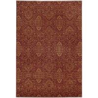 """Style Haven Persian Gardens Red Indoor/Outdoor Area Rug (7'10 x 10'10) - 7'10"""" x 10'10"""""""