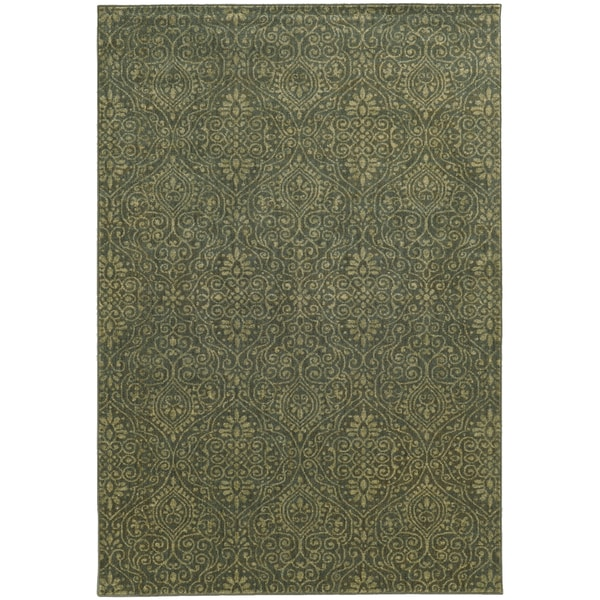 "Style Haven Blue/Beige Persian Gardens Indoor/Outdoor Area Rug (7'10 x 10'10) - 7'10"" x 10'10"""