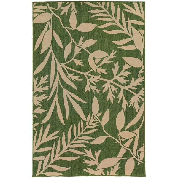 Style Haven Botanical Impressions Green/Beige Polypropylene Indoor/Outdoor Area Rug - 7'10 x 10'10