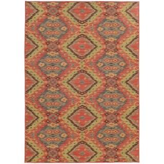 Style Haven Tribal Ikat Indoor/Outdoor Area Rug (7'10 x 10'10)