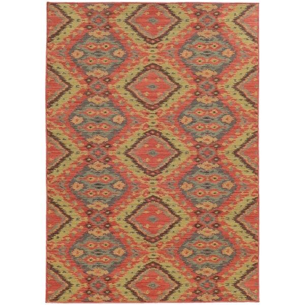 Style Haven Tribal Ikat Indoor/Outdoor Area Rug (7'10 x 10'10) - 7'10 x 10'10