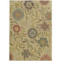 Style Haven Summer Garden Beige Indoor/Outdoor Area Rug - 7'10 x 10'10