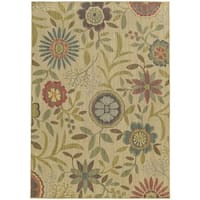 "Style Haven Summer Garden Beige Indoor/Outdoor Area Rug (7'10 x 10'10) - 7'10"" x 10'10"""