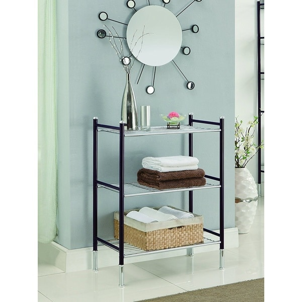Duplex 3 Tier Oil Rubbed Bronze Bathroom Shelf