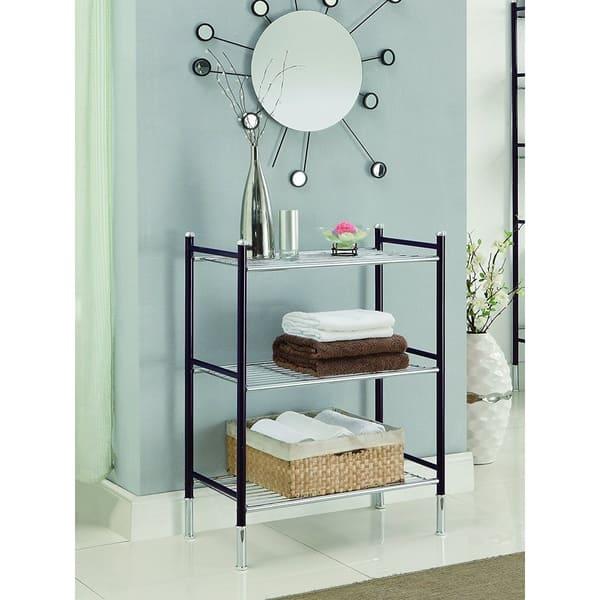 Duplex 3 Tier Oil Rubbed Bronze Bathroom Shelf