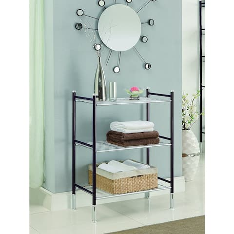 Duplex 3-tier Oil Rubbed Bronze Bathroom Shelf