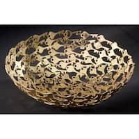 """12"""" Gilded Iron Keys Basket"""