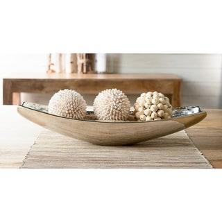 """19"""" Oblong Aluminum Wood Grain Bowl"""