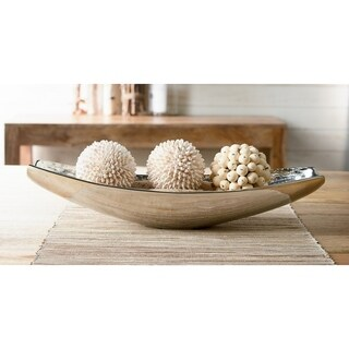 "19"" Oblong Aluminum Wood Grain Bowl"