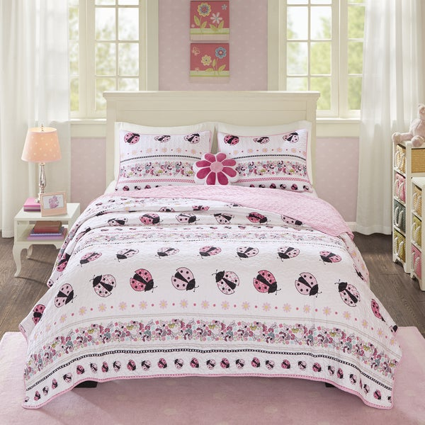 Mi Zone Kids Pink Lady Quilted 4-piece Coverlet Set