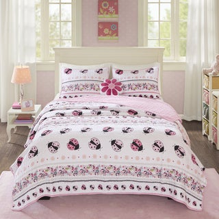 Mi Zone Kids Pink Lady Quilted Coverlet Set