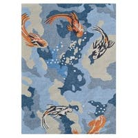 Carpio Blue Area Rug