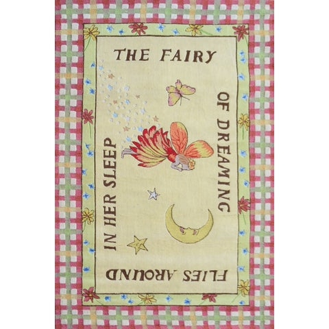 Dreaming Fairy Green Wool Area Rug