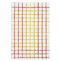 The Rug Market Rough Plaid Red/Yellow/ Wool Area Rug