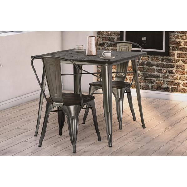 Shop Dhp Fusion Antique Gun Metal 2 Chairs And Square