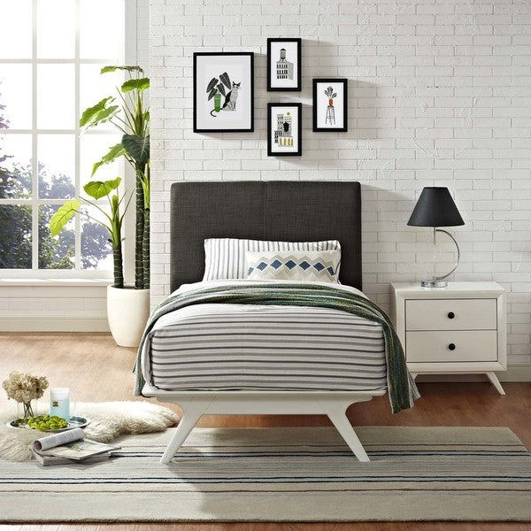 Shop Modway Tracy Rubberwood Twin Bed On Sale Free