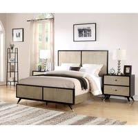 Abbyson Lennon Mid Century 3 Piece Bedroom Set