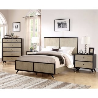 Abbyson Lennon Mid Century 4 Piece Bedroom Set