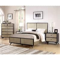 Abbyson Lennon Mid Century 4 Piece Bedroom Set
