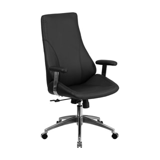 Offex High Back Black Leather Executive Swivel Office Chair [OF-BT-90068H-GG]
