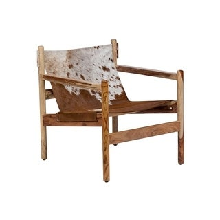 genoa cow hide sling chair model slgc30