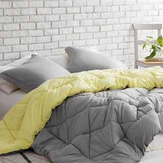 BYB Limelight Yellow/Alloy Reversible Comforter
