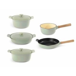 RON Cast Iron 8pc Cookware Set, Green