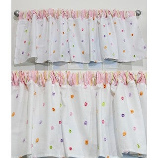 Nurture Butterfly Garden Pink Dot Valances, 2 Window Saver Pack