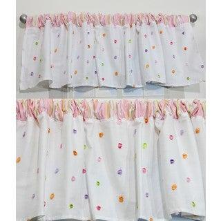 Nurture Butterfly Garden Pink Dot Valances, 2 Window Saver Pack