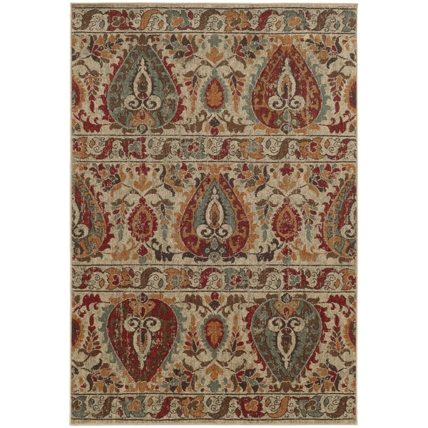 Style Haven Multicolor Indoor/Outdoor Area Rug (9'10 x 12'10) - 9'10 x 12'10
