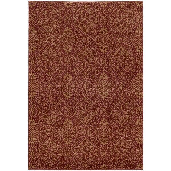 Style Haven Persian Gardens Red/Beige Indoor/Outdoor Area Rug - 9'10 x 12'10