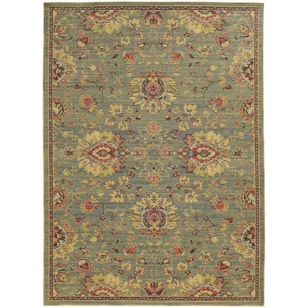 """Style Haven Floral Traditions Indoor/Outdoor Area Rug (9'10 x 12'10) - 9'10"""" X 12'10"""""""