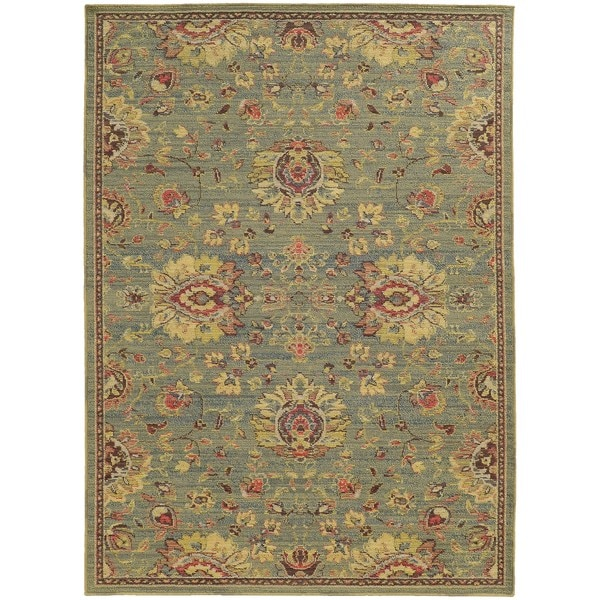 Style Haven Floral Traditions Indoor/Outdoor Area Rug (9'10 x 12'10) - 9'10 x 12'10