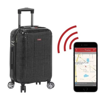 Planet Traveler USA Smart Tech 19-inch Hardside Carry-On Spinner Suitcase