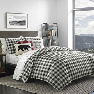 Link to Eddie Bauer Black/White Mountain Plaid Comforter Set Similar Items in Comforter Sets