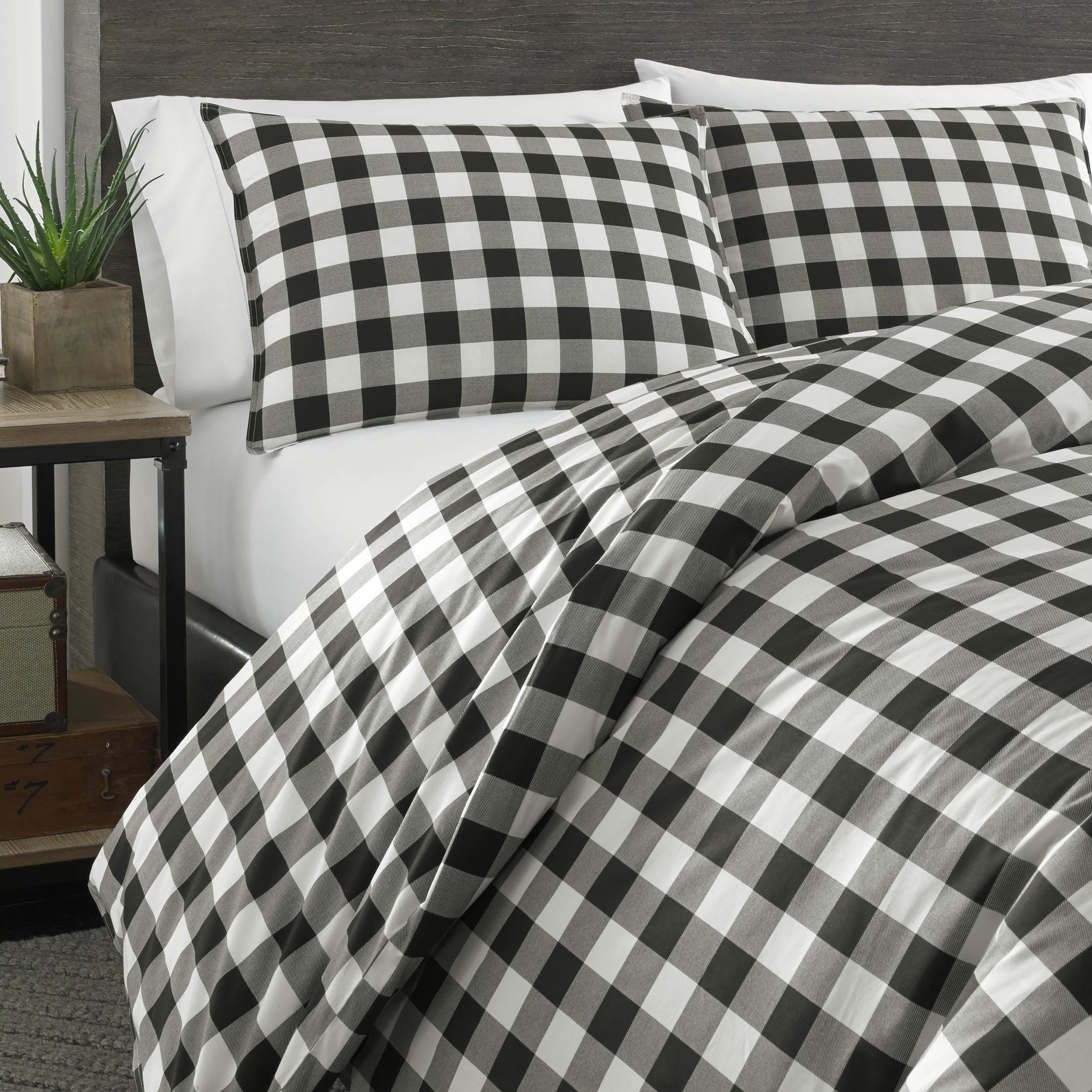 sets for sidetable bed bedding comforter classy and furniture also wooden headboard plus bauer rugs eddie with pillows plaid floor bedroom engaging ideas