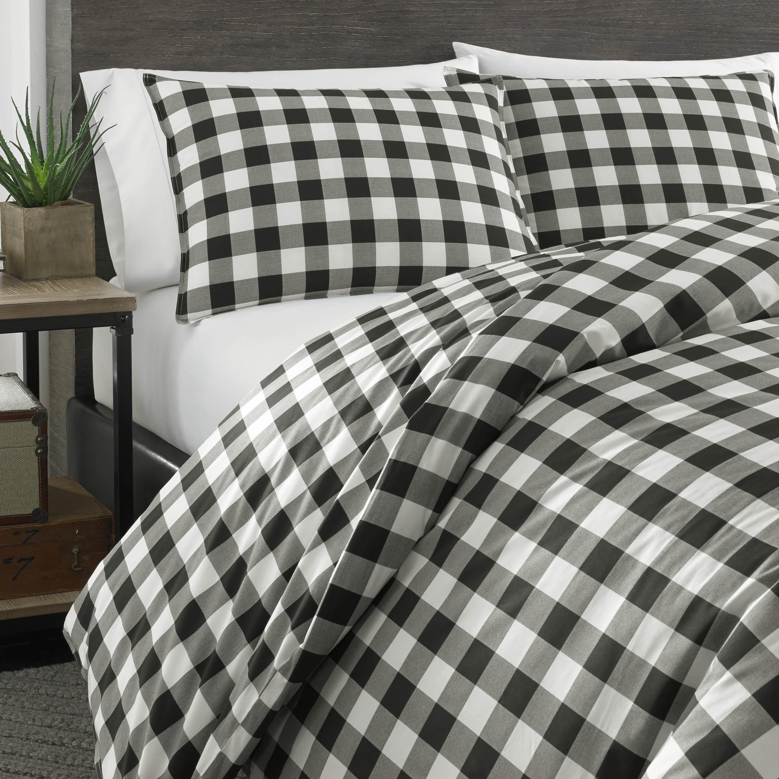 eddie top duvet edgewood bed down plaid watch bedding reversible comforter alternative covers bauer