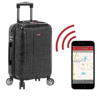 Planet Traveler USA Smart Tech 23-inch Hardside Spinner Upright Suitcase