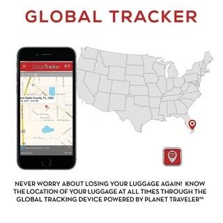 """Planet Traveler USA Smart Tech Case Hardside 28"""" Spinner"""