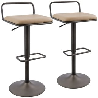Link to Beta Industrial Low Back Adjustable Swivel Barstool with Swivel (Set of 2) Similar Items in Dining Room & Bar Furniture