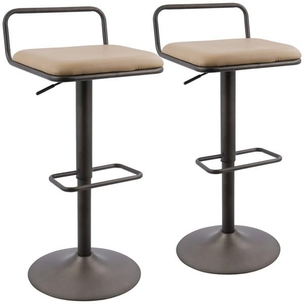 Shop Beta Industrial Adjustable Barstool With Swivel Set