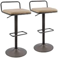 Beta Industrial Adjustable Barstool with Swivel (Set of 2)